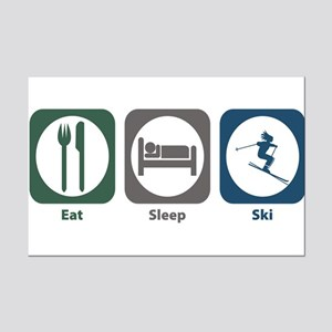 Eat Sleep Ski Mini Poster Print