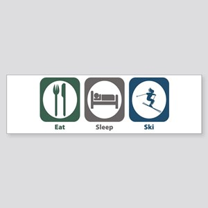 Eat Sleep Ski Bumper Sticker