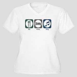 Eat Sleep Sing Women's Plus Size V-Neck T-Shirt