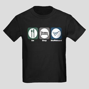Eat Sleep Shuffleboard Kids Dark T-Shirt