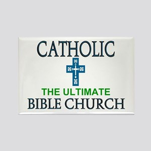 Catholic Bible Church Rectangle Magnet