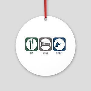 Eat Sleep Shoot Ornament (Round)