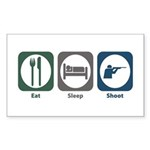 Eat Sleep Shoot Rectangle Sticker