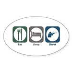 Eat Sleep Shoot Oval Sticker (10 pk)
