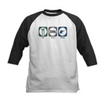 Eat Sleep Shoot Kids Baseball Jersey