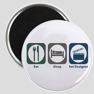 Eat Sleep Set Designer Magnet