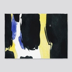 Bold watercolors brush strokes 5'x7'Area Rug