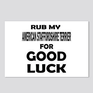 Rub My American Staffords Postcards (Package of 8)