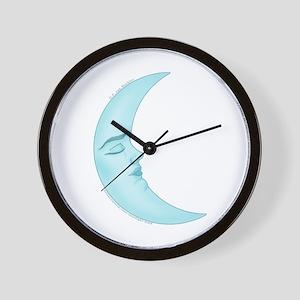 Cute Sleeping Moon 2 Wall Clock