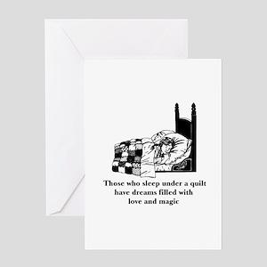 Sleep Under Quilt - Dreams an Greeting Card