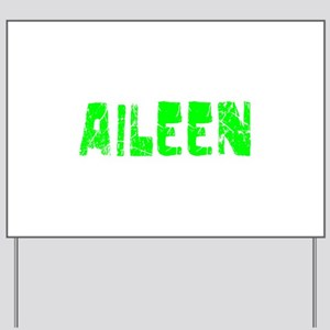 Aileen Faded (Green) Yard Sign