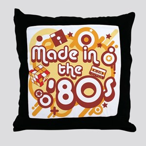 Made In The 80s Throw Pillow