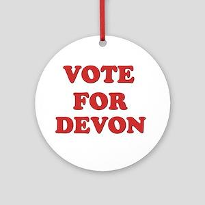 Vote for DEVON Ornament (Round)