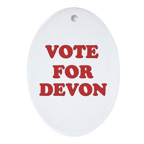 Vote for DEVON Oval Ornament