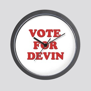 Vote for DEVIN Wall Clock