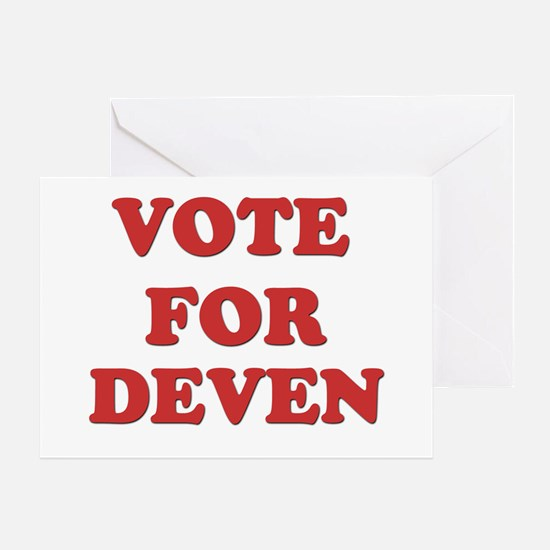 Vote for DEVEN Greeting Card