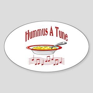 Hummus A Tune Oval Sticker