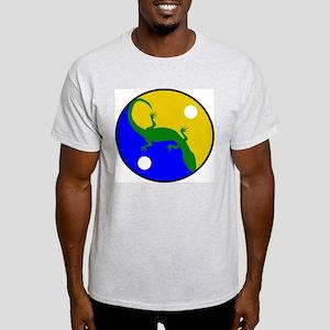 Yin Yang Gecko Ash Grey T-Shirt