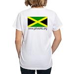 Jahworks Jamaican Flag Women's V-Neck T-Shirt