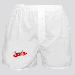 Retro Jordy (Red) Boxer Shorts