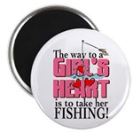 Fishing - Way to a Girl's Heart Magnet