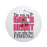 Fishing - Way to a Girl's Heart Ornament (Round)