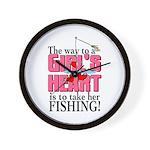 Fishing - Way to a Girl's Heart Wall Clock