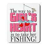 Fishing - Way to a Girl's Heart Mousepad