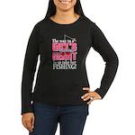 Fishing - Way to a Girl's Heart Women's Long Sleev
