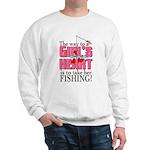 Fishing - Way to a Girl's Heart Sweatshirt