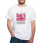 Fishing - Way to a Girl's Heart White T-Shirt