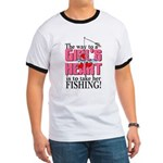 Fishing - Way to a Girl's Heart Ringer T