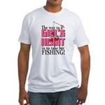 Fishing - Way to a Girl's Heart Fitted T-Shirt