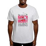 Fishing - Way to a Girl's Heart Light T-Shirt