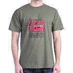 Fishing - Way to a Girl's Heart Dark T-Shirt