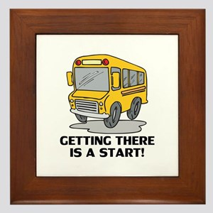 Gifts for School Bus Drivers Framed Tile
