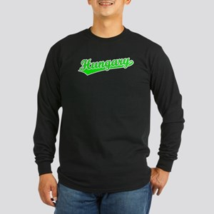 Retro Hungary (Green) Long Sleeve Dark T-Shirt
