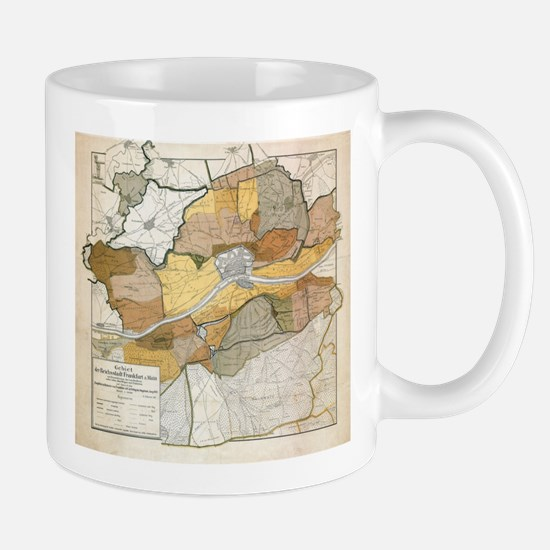 Vintage Map of Frankfurt Germany (1905) Mugs