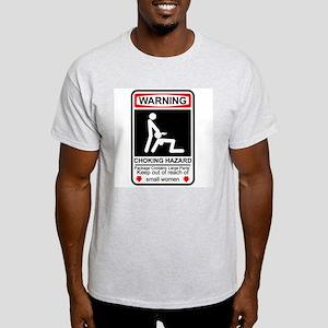 Warning Ash Grey T-Shirt