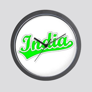 Retro India (Green) Wall Clock