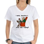 I Drink, Therefore Women's V-Neck T-Shirt