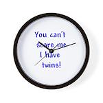 I have twins Wall Clock