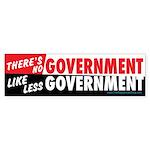 Less Government Bumper Sticker