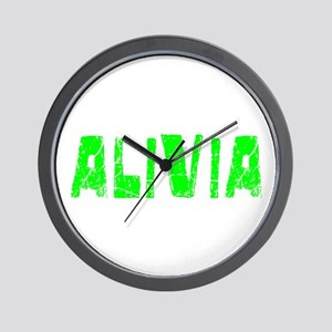 Alivia Faded (Green) Wall Clock