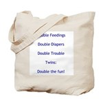 Double Trouble - Blue Tote Bag