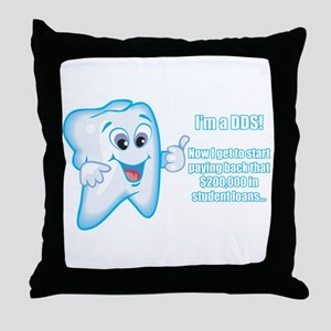 Funny DDS Grad Throw Pillow