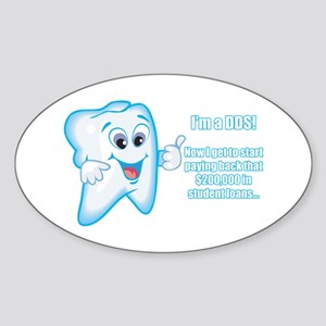 Funny DDS Grad Oval Sticker