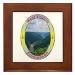 West Virginia Mason Framed Tile