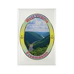 West Virginia Mason Rectangle Magnet (100 pack)