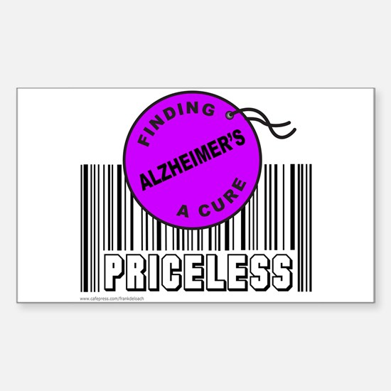 ALZHEIMER'S FINDING A CURE Rectangle Decal